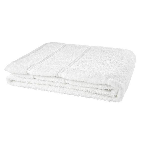 Duschtuch Melanie Weiß - Weiß, Textil (70/140cm) - Mömax modern living