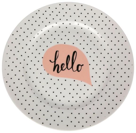 Desertni Krožnik Hello - večbarvno, keramika (21cm)