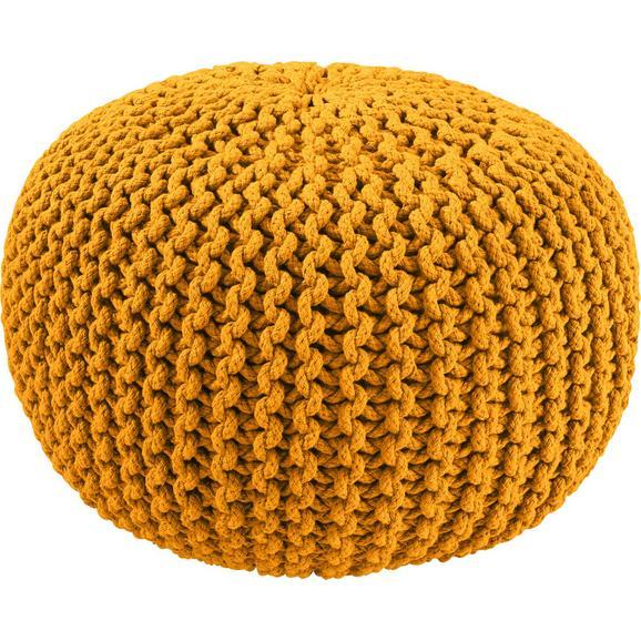 Sitzkissen Aline in Gelb, ca. 50x30cm - Gelb, Textil (50/30cm) - Premium Living