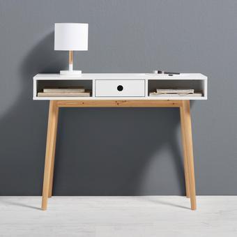 Konsolentisch Emilie 100x35cm - Braun/Weiß, MODERN, Holz/Holzwerkstoff (100/76/35cm) - Mömax modern living
