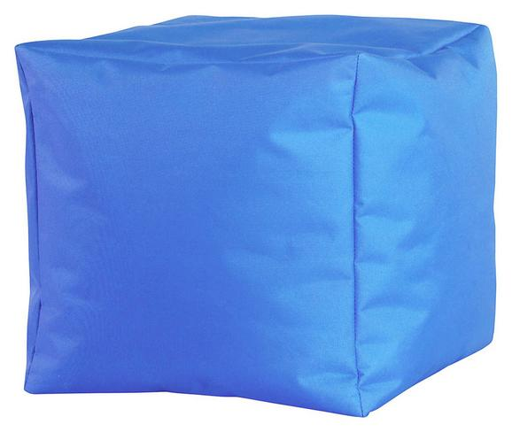 Tabure Cube Xl-sb- - modra, Moderno, tekstil (50/50/50cm) - Mömax modern living