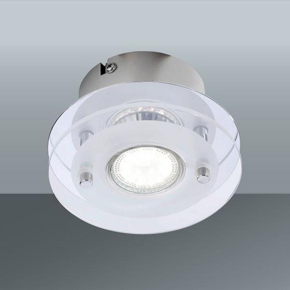 Mennyezeti Lámpa Stefan - krómszínű/fehér, konvencionális, üveg/fém (12/7cm)