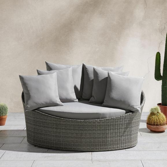 Loungesofa Tropical inkl. Auflage und Kissen - Grau, MODERN, Kunststoff/Textil (140/75/80cm) - Mömax modern living