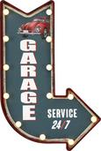 Dekor Tábla Garage - zöld, műanyag/faanyagok (41/61/5,5cm)