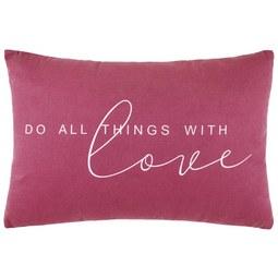 Zierkissen Love Flieder ca. 40x60cm - Flieder, KONVENTIONELL, Textil (40/60cm) - Mömax modern living