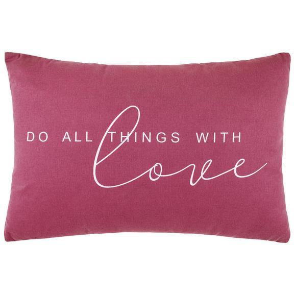 Zierkissen Love in Flieder ca. 40x60cm - Flieder, KONVENTIONELL, Textil (40/60cm) - Mömax modern living