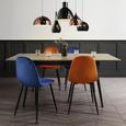 Tisch Vivian Ausziehbar ca.180x90cm - Eichefarben, MODERN, Holz/Metall (140-180/90/76cm) - Mömax modern living