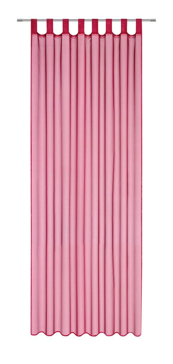 Schlaufenvorhang Hanna, ca. 140x245cm - Bordeaux, Textil (140/245cm) - Based