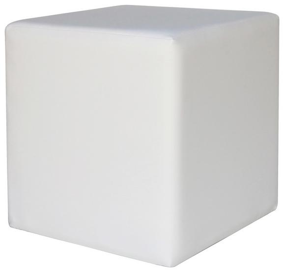 Tabure Colorfull Cube - bela/bež, Moderno, umetna masa/tekstil (40/40/42cm) - Mömax modern living