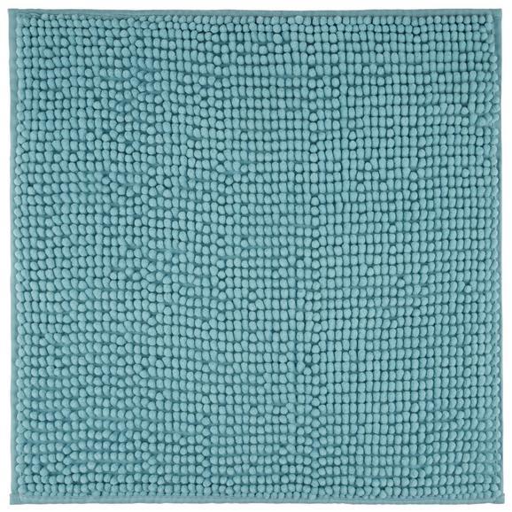 Badteppich Nelly Türkis 50x50cm - Türkis, Textil (50/50cm) - Mömax modern living