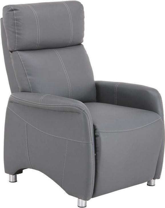 Fotelja Spirit - bijela/siva, Modern, drvo/metal (78/113,5/90cm)