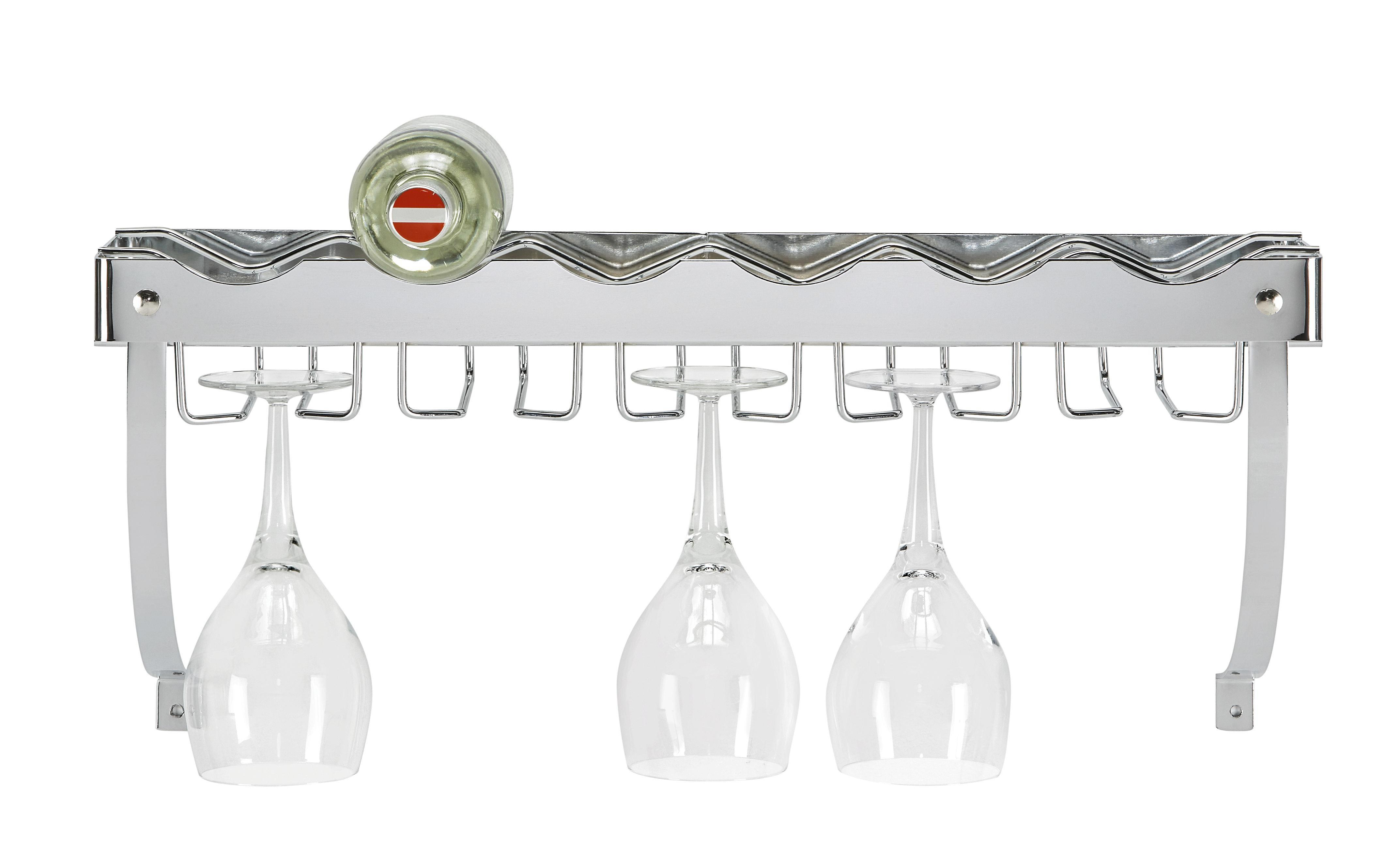 Weinregal in Silberfarben - Metall (58/22/18cm) - MÖMAX modern living