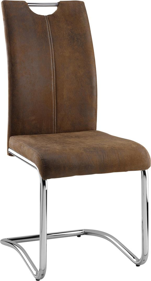 Schwingstuhl Braun - Hellbraun/Braun, MODERN, Textil/Metall (43/99/57cm) - Mömax modern living