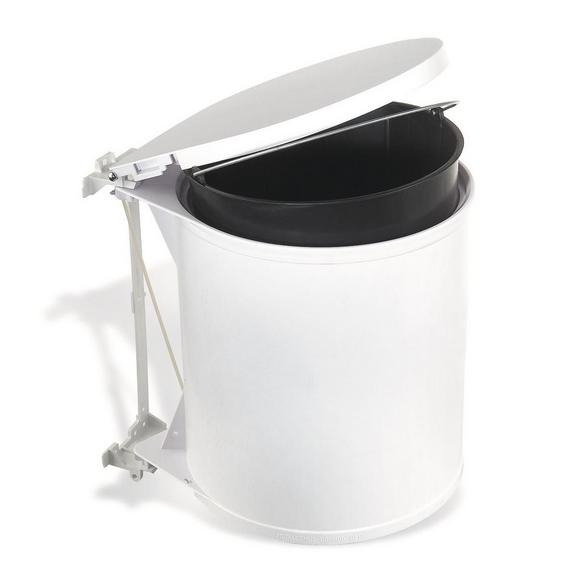 Abfalleimer Weiß 11 Liter - Weiß, Basics, Kunststoff (32/31/27cm)
