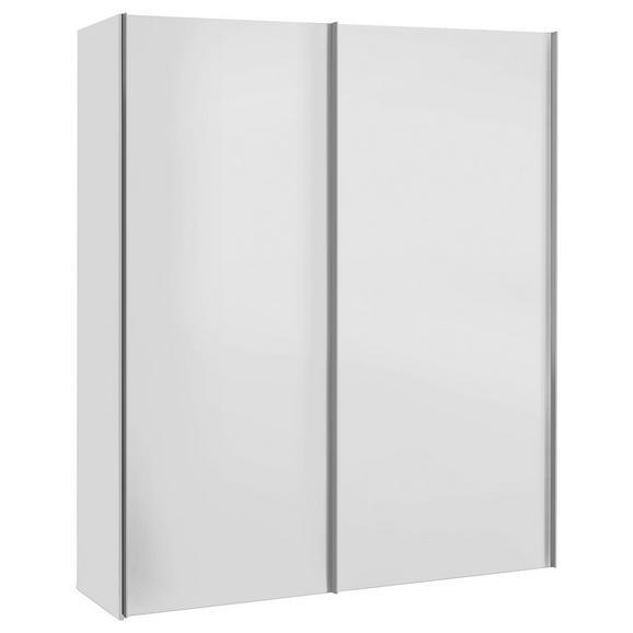 Omara Z Drsnimi Vrati Max - bela, Konvencionalno, leseni material (175/216/68cm) - Modern Living