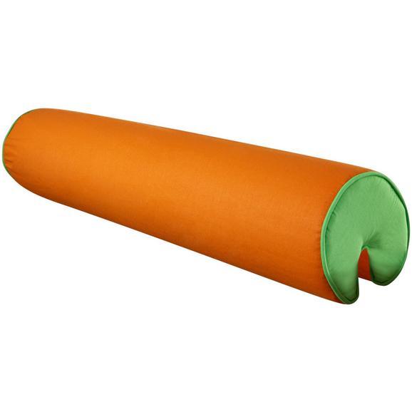 NACKENROLLE NACKENROLLE - Orange/Grün, Design, Textil (80/16/16cm)