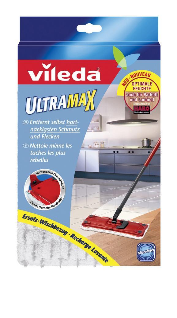 Felmosófej Ultramax F11204 Vileda - Világosszürke/Piros, konvencionális, Textil