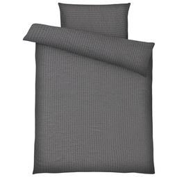 Bettwäsche Brigitte Grau 140x200cm - Grau, KONVENTIONELL, Textil - Mömax modern living