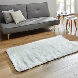 Fellteppich Romy 80x150 cm - Weiß, MODERN, Textil (80/150cm) - Mömax modern living