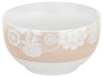 Skodelica Za Kosmiče Lacey - roza, Romantika, keramika (14cm) - Mömax modern living