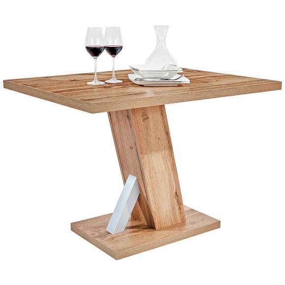 Masă Sufragerie Severin - culoare lemn stejar, Konventionell, compozit lemnos (110/76/80cm)