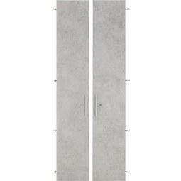 Türenset in Grau - Alufarben/Grau, MODERN, Holzwerkstoff/Metall (75,6/207cm) - Mömax modern living