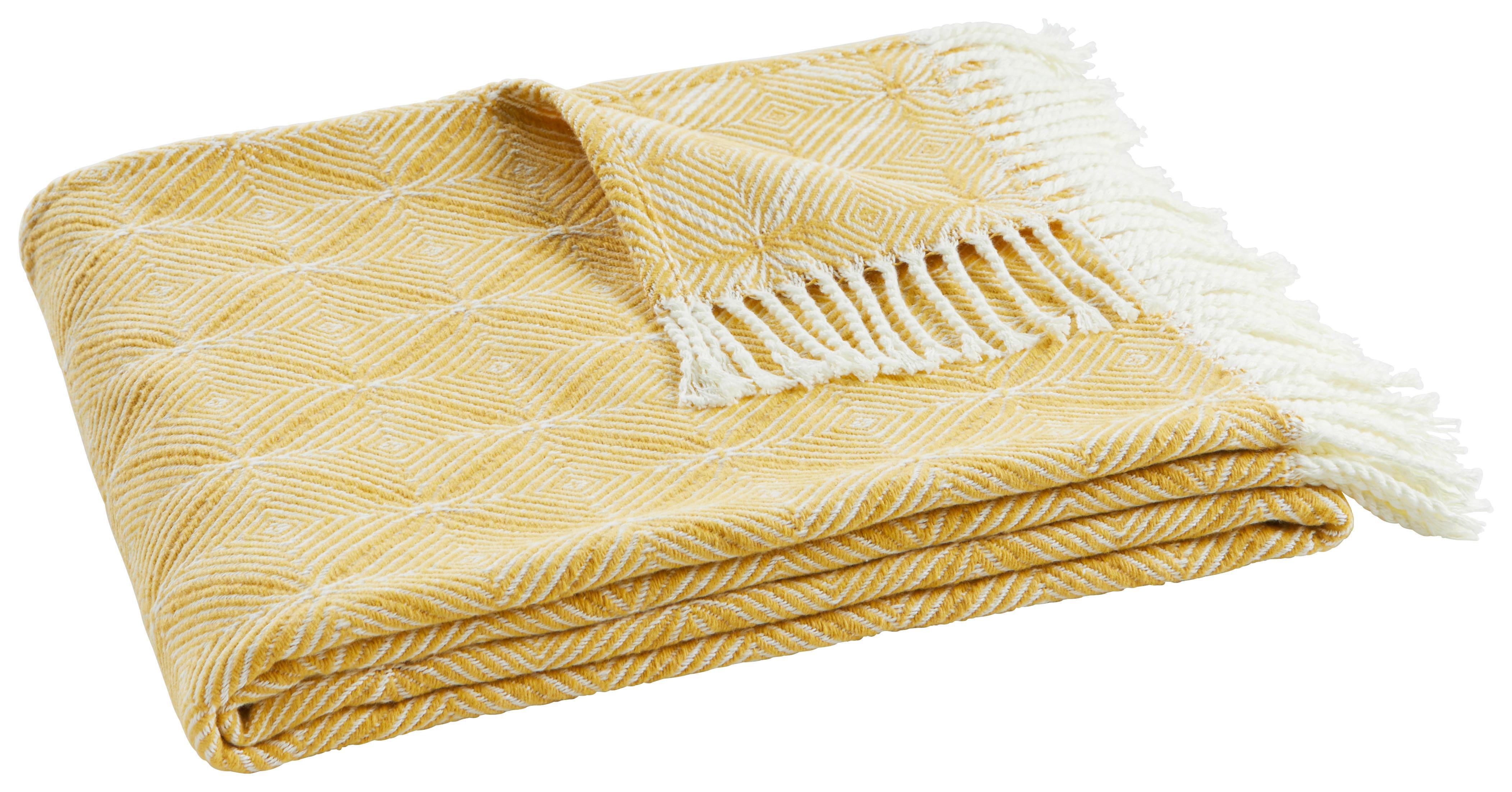 Image of Decke Samira in Gelb/Natur ca. 130x170cm