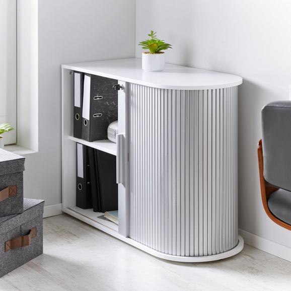 Aktenschrank Basic - Silberfarben/Weiß, MODERN, Holz/Holzwerkstoff (92/70/40cm) - Mömax modern living