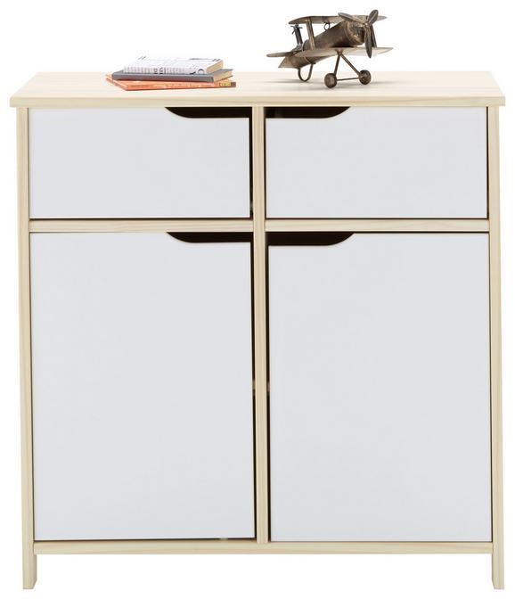 Kommode Natur/Weiß - Weiß/Naturfarben, MODERN, Holz (80/80/40cm) - Zandiara