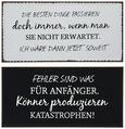 Dekoschild Franzi Verschiedene Sprüche - Grau, LIFESTYLE, Metall (40/20cm)