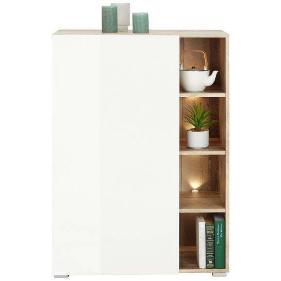 Highboard in Weiß/Eichefarben - Eichefarben/Weiß, MODERN, Holzwerkstoff (73/106cm) - Modern Living