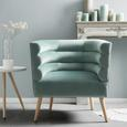 Sessel in Grün - Naturfarben/Grün, MODERN, Holz/Textil (74/76/71cm) - Modern Living