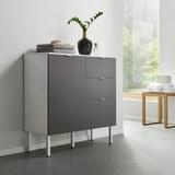 Unterschrank Bianco - Weiß/Grau, MODERN, Kunststoff (90/35/86,50cm) - Modern Living