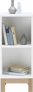 Regal in Weiß/Eiche - Eichefarben/Weiß, MODERN, Holzwerkstoff (38/90/36cm) - MÖMAX modern living