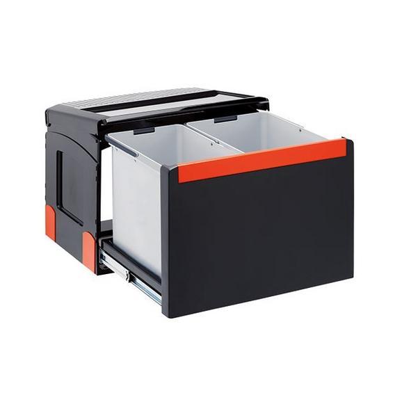 Einbauabfallsammler Cube 50 - Hellgrau/Grau, Kunststoff (43,8/34,5/33cm) - Franke
