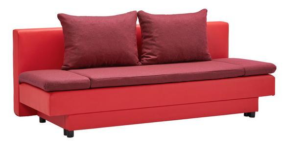 Schlafsofa mit Bettkasten - Rot/Schwarz, MODERN, Kunststoff/Textil (199/83/81cm) - MÖMAX modern living