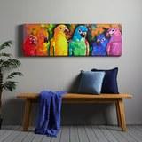 Bild Parrot - Blau/Rot, MODERN, Holz/Textil (140/45/4cm) - Mömax modern living