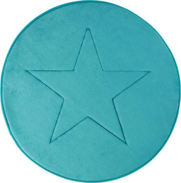 Badematte Star ca. 70cm - Petrol, Textil (70/70cm) - MÖMAX modern living