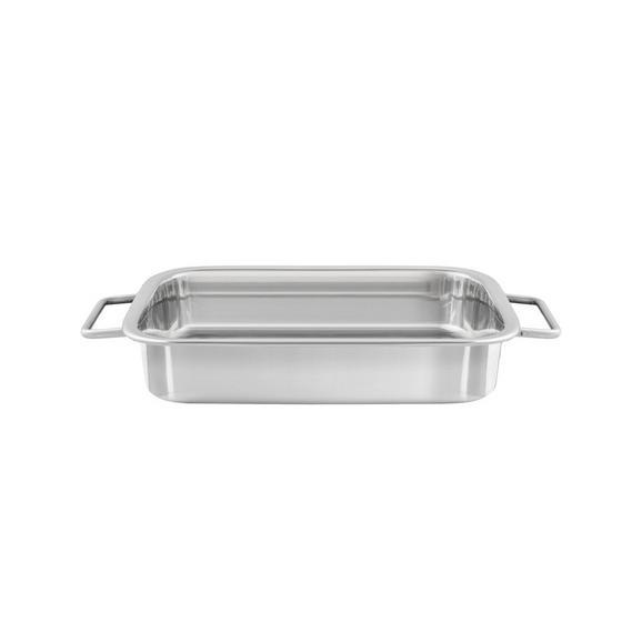 Auflaufform SEBI - Edelstahlfarben, Metall (27,5/20,3/6cm) - Mömax modern living