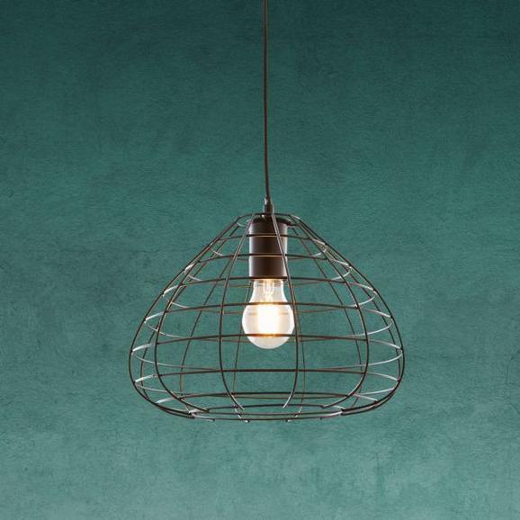 Hängeleuchte Sina - Schwarz, MODERN, Metall (30cm) - Modern Living