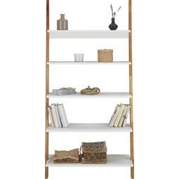 Regal in Natur/Weiß - Naturfarben/Weiß, MODERN, Holz/Holzwerkstoff (85/170/40cm) - Mömax modern living