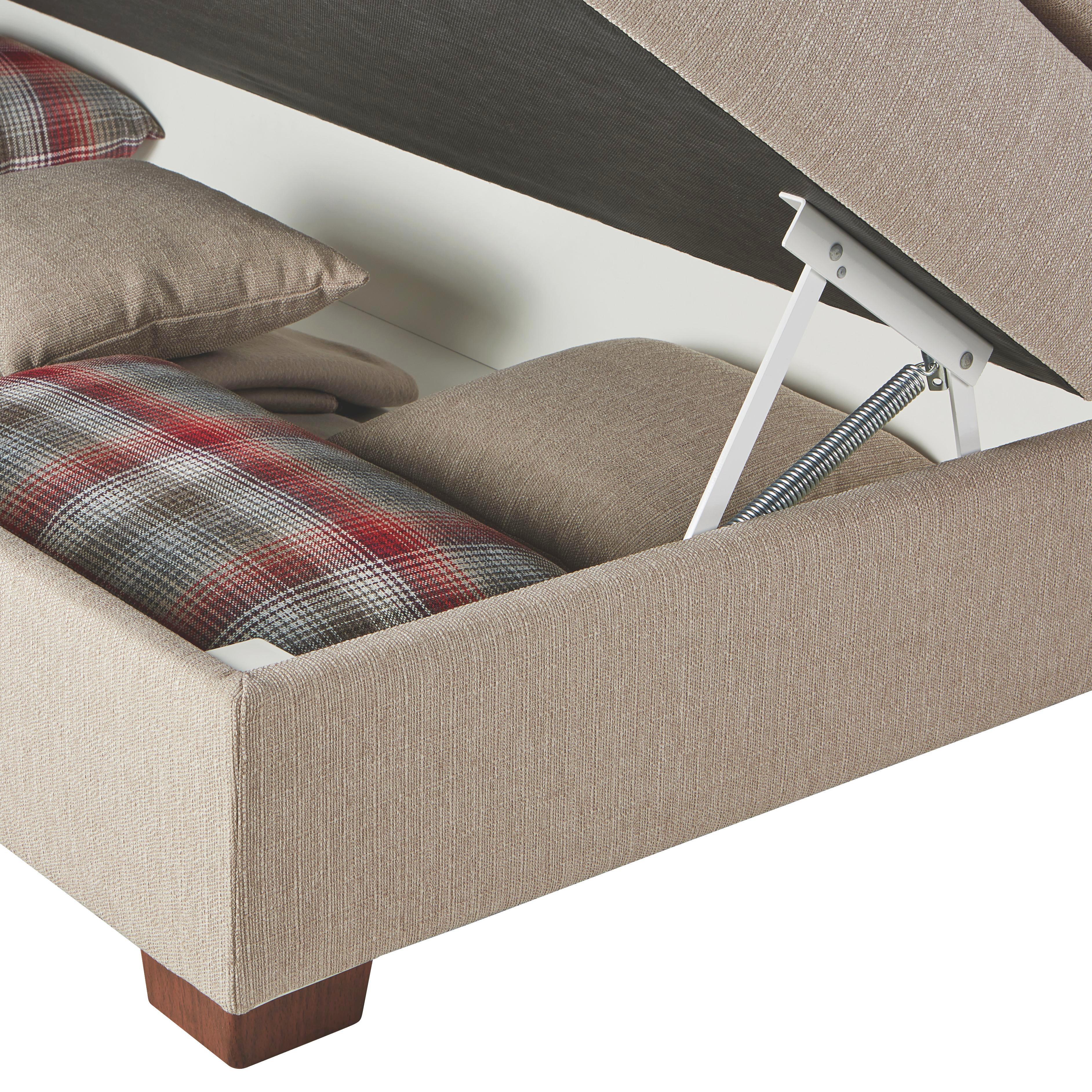 Boxspringbett in Creme, ca. 160x200cm - Nussbaumfarben, ROMANTIK / LANDHAUS, Holzwerkstoff/Kunststoff (223/173/118cm) - PREMIUM LIVING
