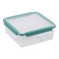 Frischhaltedose Linnea Mint/transparent - Transparent/Mintgrün, MODERN, Kunststoff (22,0/22,0/8,5cm)