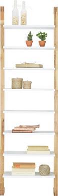 Polc Durham - natúr színek/fehér, modern, fa/faanyagok (55/180/25cm) - MÖMAX modern living