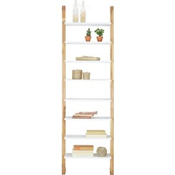 Regal in Weiß/Eichefarben - Eichefarben/Weiß, MODERN, Holz/Holzwerkstoff (55/180/25cm) - Mömax modern living
