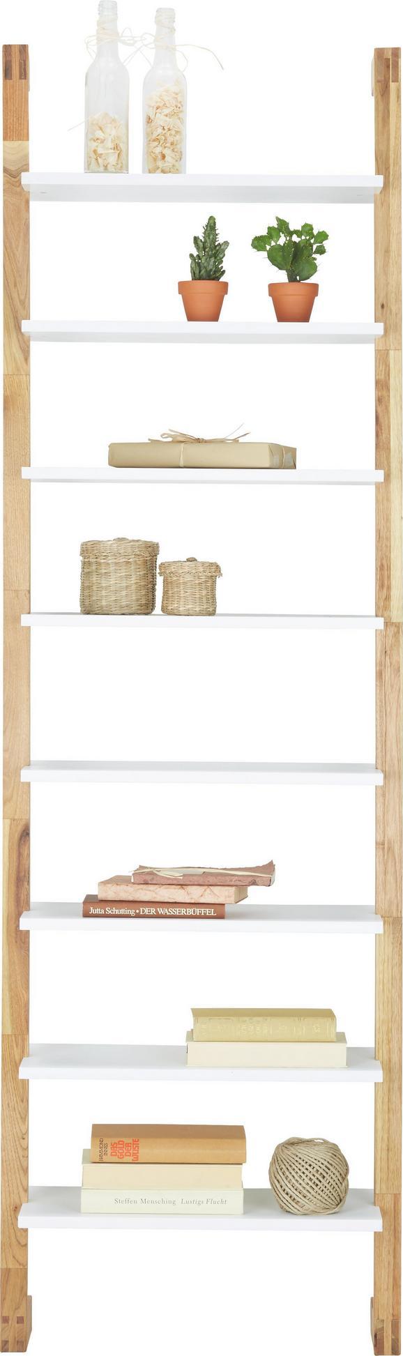Regal in Weiß/Walnuss - Naturfarben/Weiß, MODERN, Holz/Holzwerkstoff (55/180/25cm) - Mömax modern living