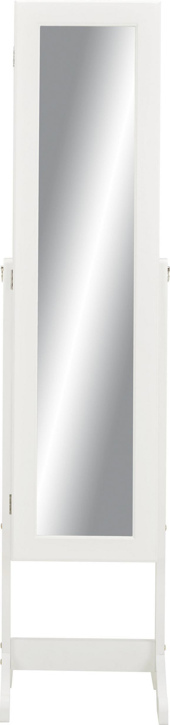 Schmuckschrank Weiß - Weiß, MODERN, Glas/Holz (34/145/38cm) - Modern Living