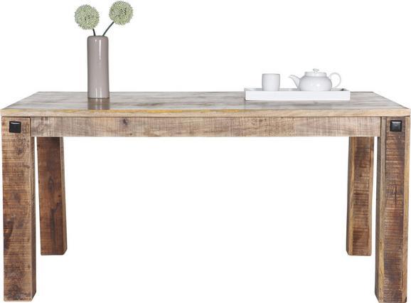 Esstisch aus Mangoholz Massiv - Naturfarben, LIFESTYLE, Holz (160/76/90cm) - Zandiara