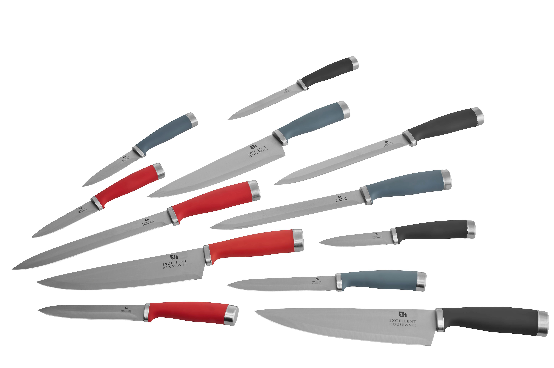 Set Nožev Sara - rdeča/črna, Moderno, kovina (20cm) - MÖMAX modern living