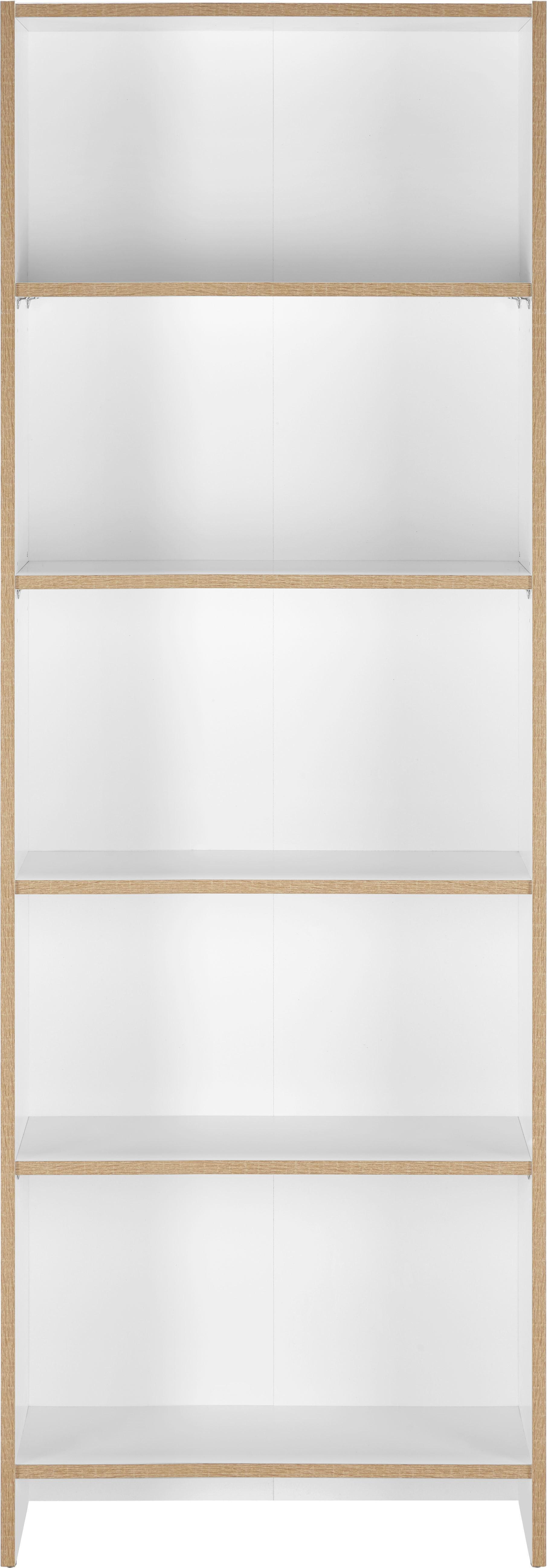 Regal in Weiß mit 5 Fächer - Weiß, MODERN, Holzwerkstoff (60/175/24cm) - MÖMAX modern living